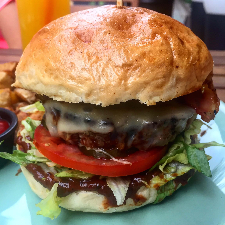 Burger stacja street food łódź